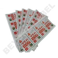 printing food package label for take-away foods