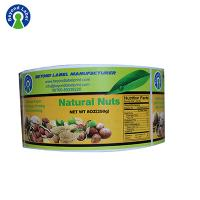 Custom roll label printing for nuts package